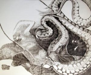 "Graphite on Paper, 11"" x 17"". 2012"